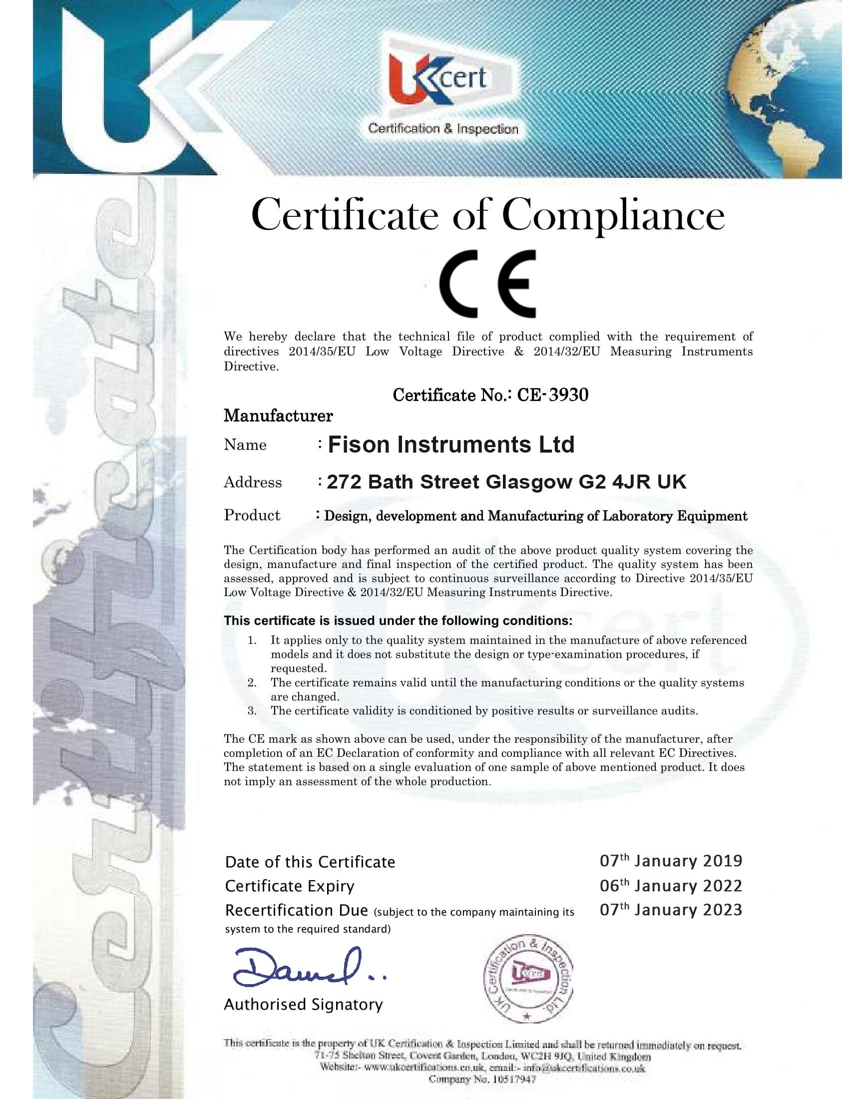 Fison Instruments Ltd CE-3930