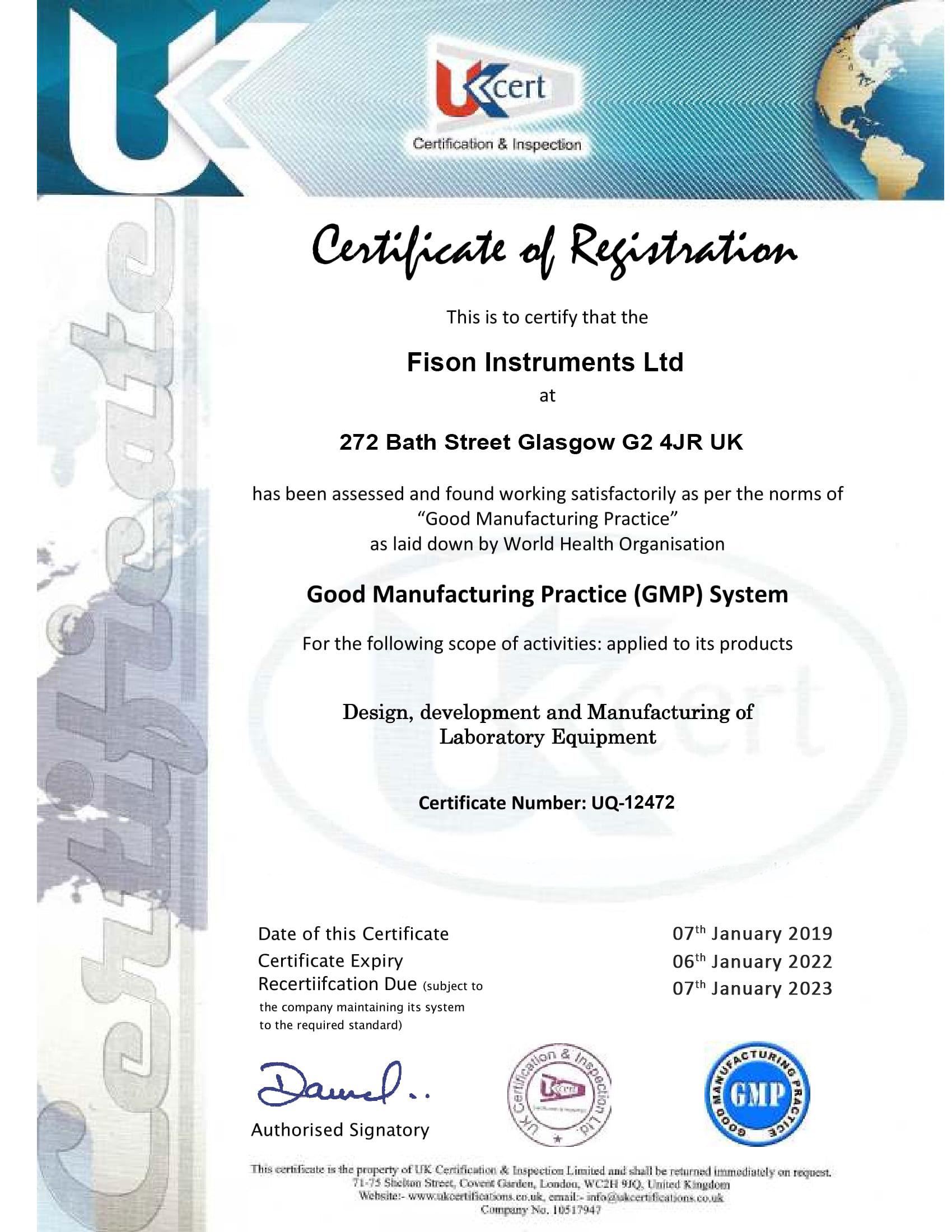 Fison Instruments Ltd GMP-UQ-12472